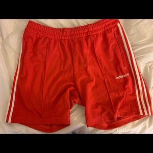 Adidas Track Shorts Red Size Large
